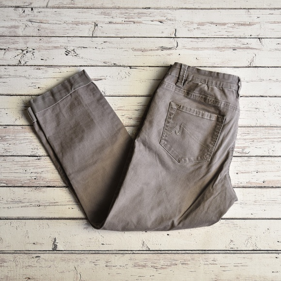 Max Studio Pants - MAX STUDIO Taupe Brown Cuffed Ankle Pants Size 10